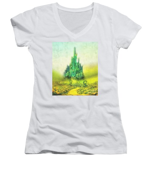 Emerald City Women's V-Neck T-Shirt
