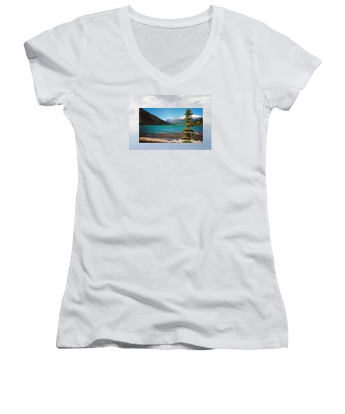 Emerald Lake Chilkoot Trail Alaska Women's V-Neck T-Shirt