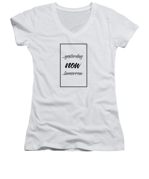 Emotional Art Now - Black And White Women's V-Neck (Athletic Fit)
