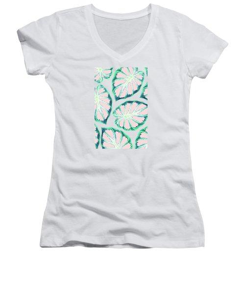 Emotional Illumination Women's V-Neck T-Shirt (Junior Cut) by Uma Gokhale