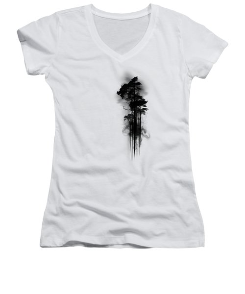 Enchanted Forest Women's V-Neck T-Shirt (Junior Cut) by Nicklas Gustafsson