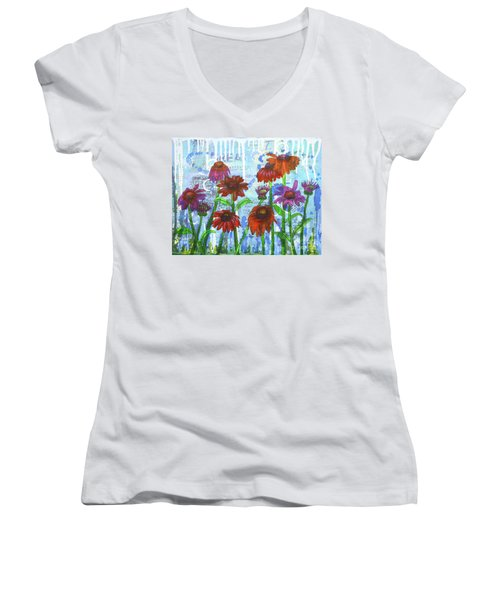 Enchanting Echinacea Women's V-Neck