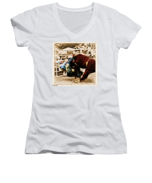 End Of A Helluva Ride Women's V-Neck (Athletic Fit)