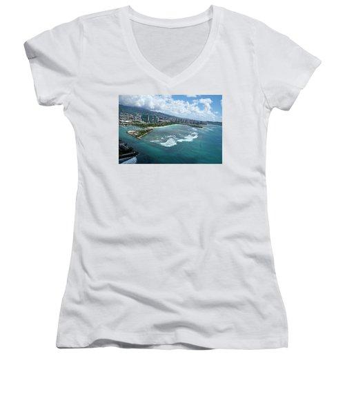 Endless Summer Women's V-Neck T-Shirt (Junior Cut) by Lucinda Walter