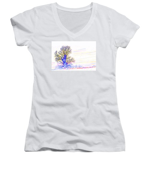 Energy Tree Women's V-Neck (Athletic Fit)