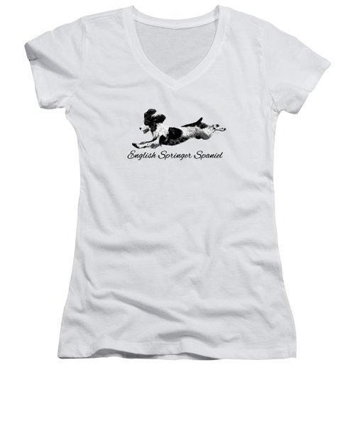English Springer Spaniel Women's V-Neck T-Shirt