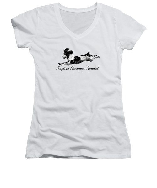English Springer Spaniel Women's V-Neck