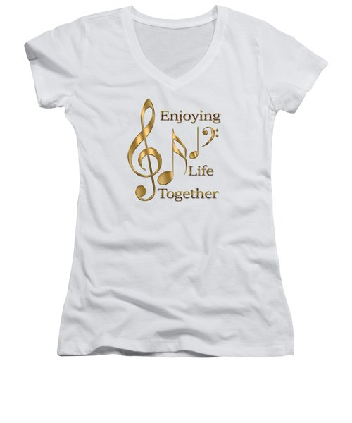 Enjoying Life Together Women's V-Neck