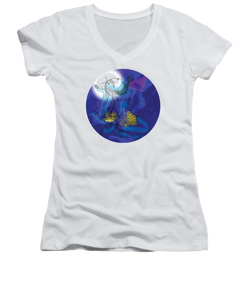 Enlightened Shiva  Women's V-Neck