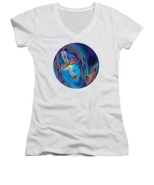 Enlightening Shiva Women's V-Neck