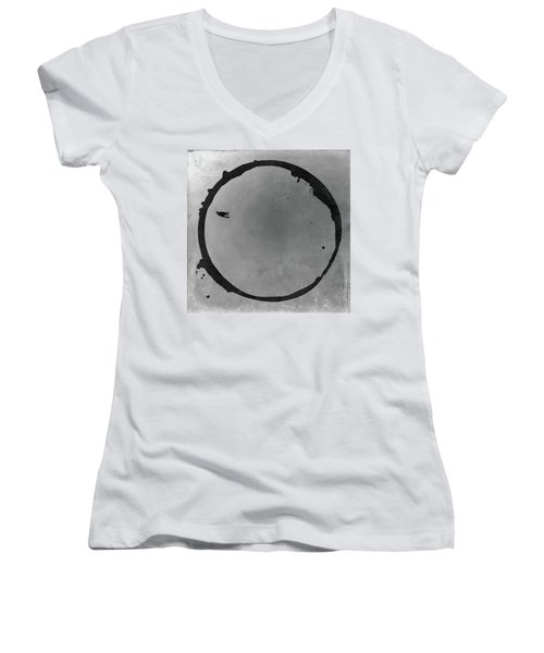 Enso 2017-26 Women's V-Neck T-Shirt (Junior Cut) by Julie Niemela