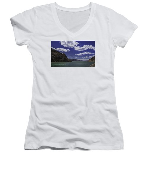 Entering Yellowstone National Park Women's V-Neck T-Shirt