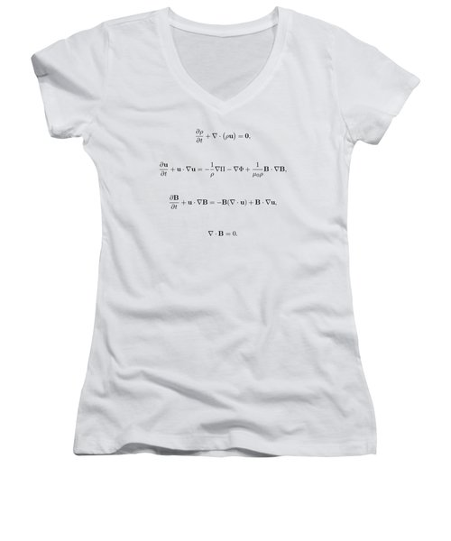 Women's V-Neck T-Shirt (Junior Cut) featuring the photograph Equation by Jean Noren