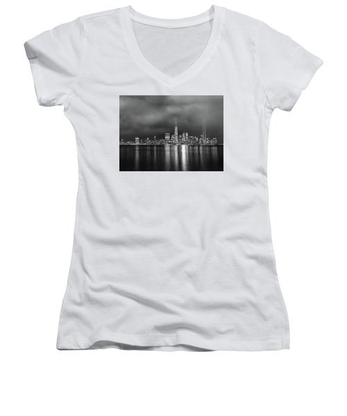 Etched Into The Sky Women's V-Neck T-Shirt