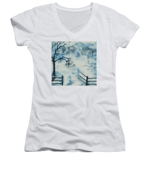 Ethereal Morning  Women's V-Neck (Athletic Fit)