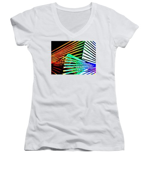 Euclid Of Alexandria Women's V-Neck T-Shirt (Junior Cut) by Tim Townsend