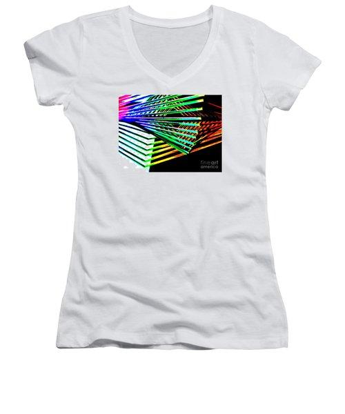 Euclids Geometry Women's V-Neck T-Shirt (Junior Cut) by Tim Townsend