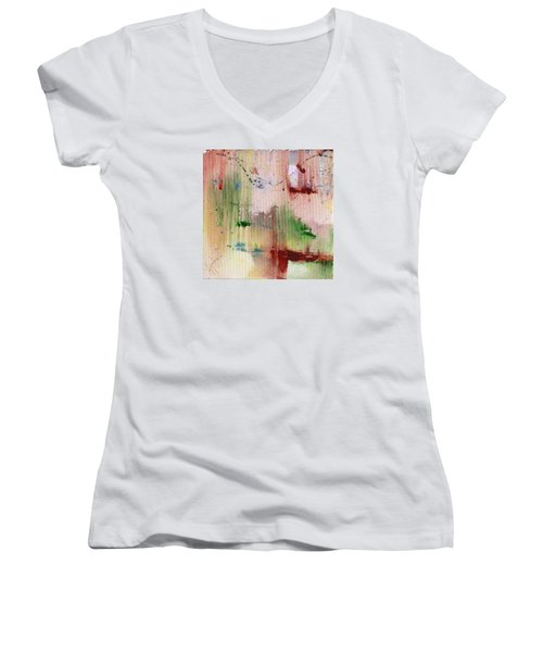Evaporated Women's V-Neck T-Shirt (Junior Cut) by Phil Strang
