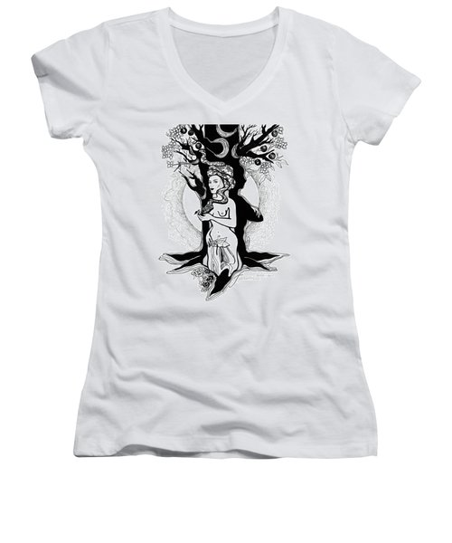 Eve Women's V-Neck T-Shirt (Junior Cut) by Yelena Tylkina