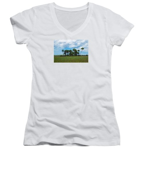 Everglades Landscape Women's V-Neck (Athletic Fit)