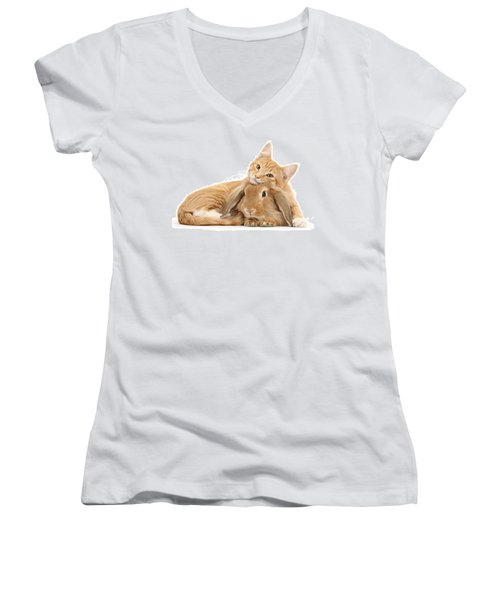 Everybody Needs A Bunny For A Pillow Women's V-Neck (Athletic Fit)