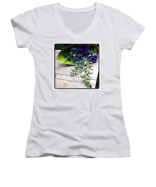 Women's V-Neck featuring the photograph Excellent Customer Service. #flowers by Mr Photojimsf