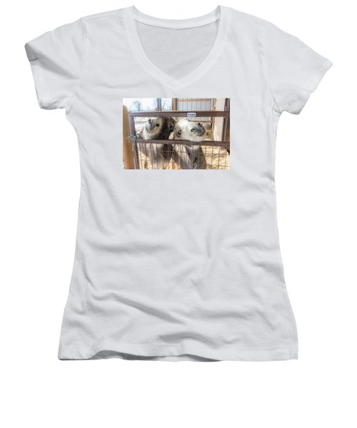 Excited To See Me Women's V-Neck