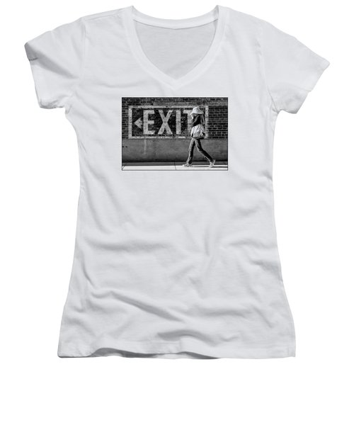Exit Bw Women's V-Neck