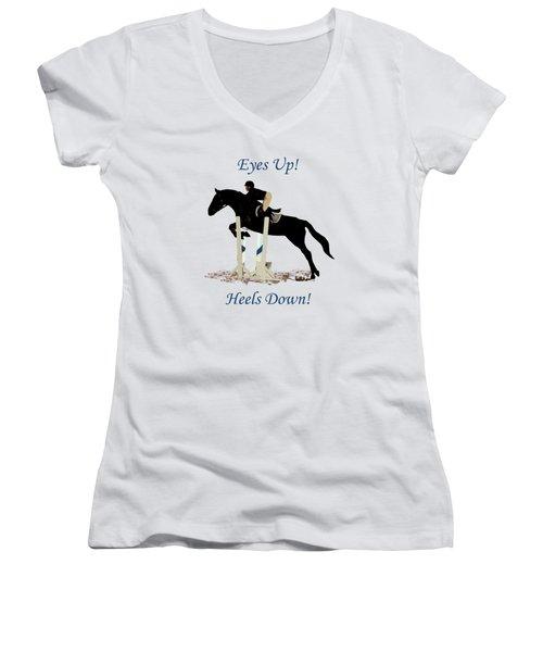 Eyes Up, Heels Down Horse Women's V-Neck T-Shirt