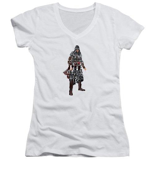 Ezio Auditore Da Firenze Women's V-Neck T-Shirt (Junior Cut) by Ayse Deniz
