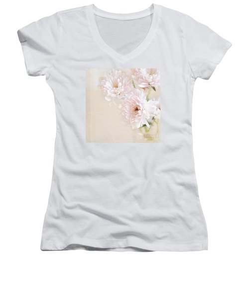 Faded Dream Women's V-Neck T-Shirt (Junior Cut) by Lyn Randle