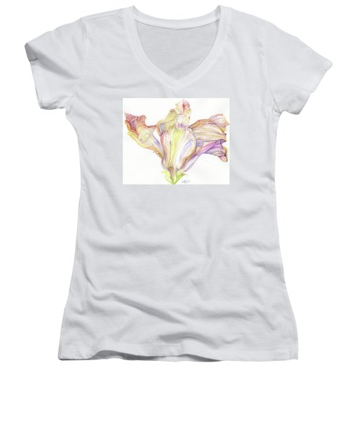Faded Hibiscus Women's V-Neck T-Shirt