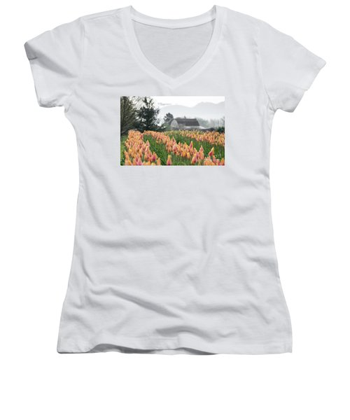 Faded Tulip Barn Women's V-Neck (Athletic Fit)
