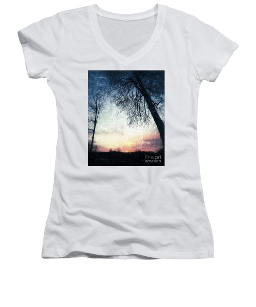 Fading Sunset Women's V-Neck (Athletic Fit)