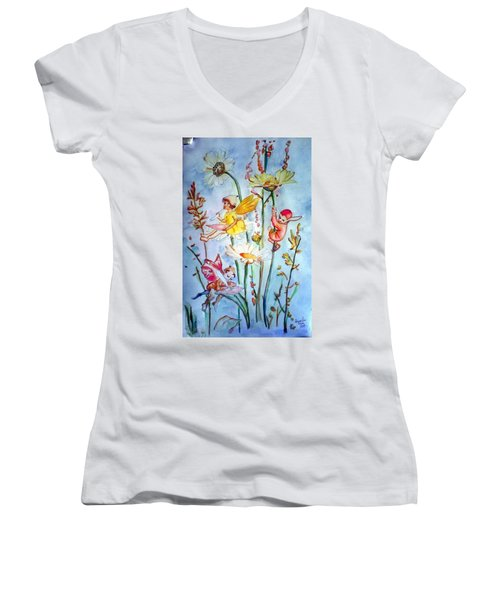 Fairy Babies Women's V-Neck (Athletic Fit)