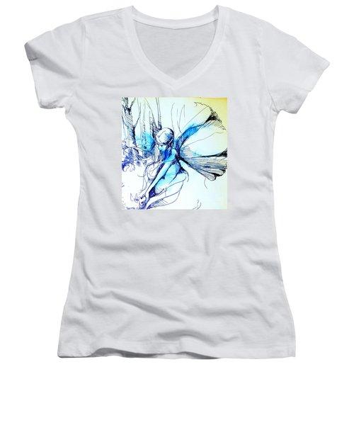 Fairy Doodles Women's V-Neck T-Shirt