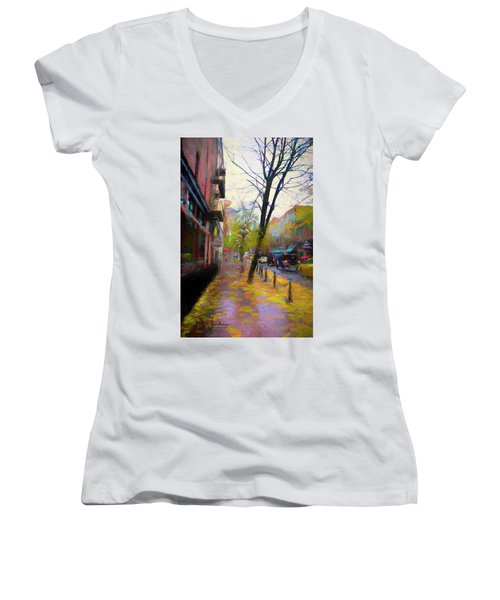 Fall Days Women's V-Neck (Athletic Fit)