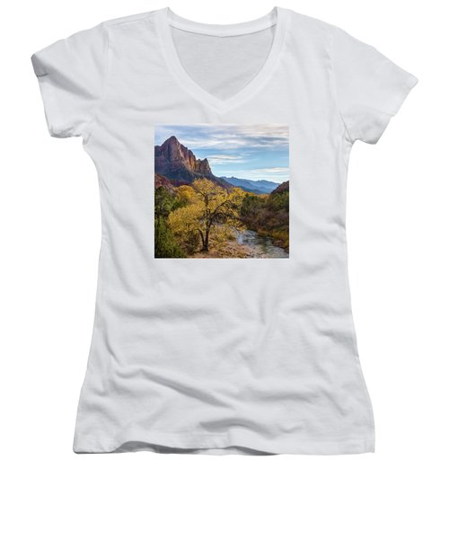 Fall Evening At Zion Women's V-Neck