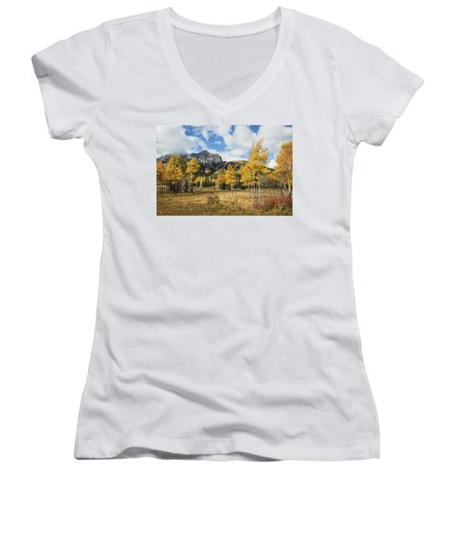 Fall In Kananaskis Women's V-Neck T-Shirt