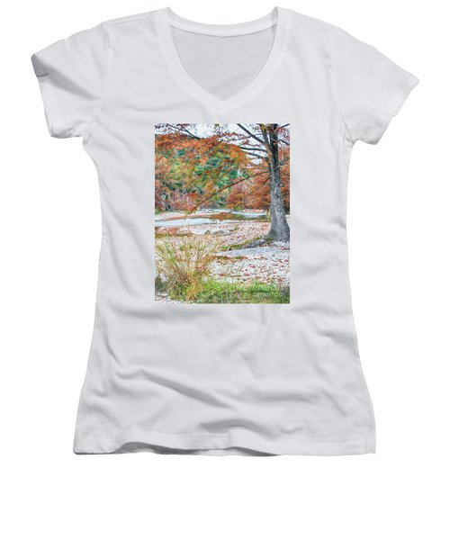 Fall In Texas Hills Women's V-Neck (Athletic Fit)