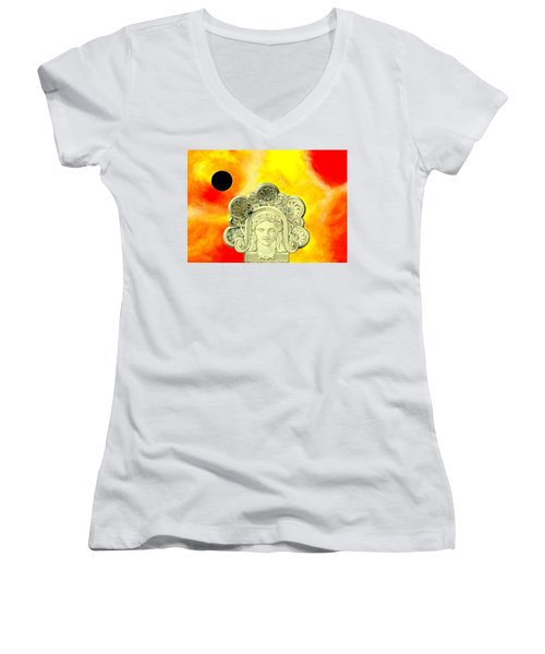 Fall Of Rome II Women's V-Neck (Athletic Fit)