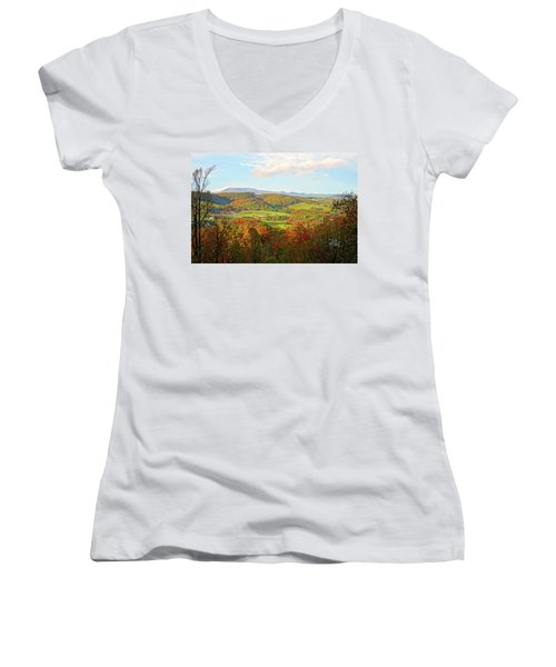 Fall Porch View Women's V-Neck (Athletic Fit)