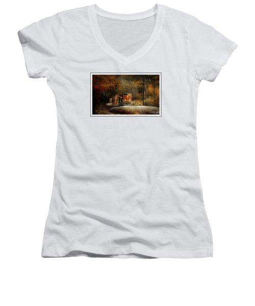 Fall Steel Women's V-Neck T-Shirt