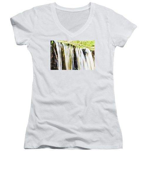 Falling Water Mirror Women's V-Neck (Athletic Fit)