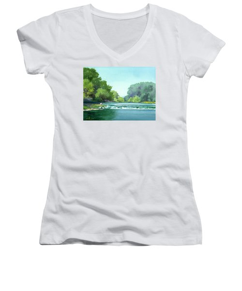 Falls At Estabrook Park Women's V-Neck