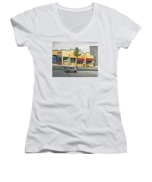 Falls Church Women's V-Neck T-Shirt (Junior Cut) by Victoria Lakes