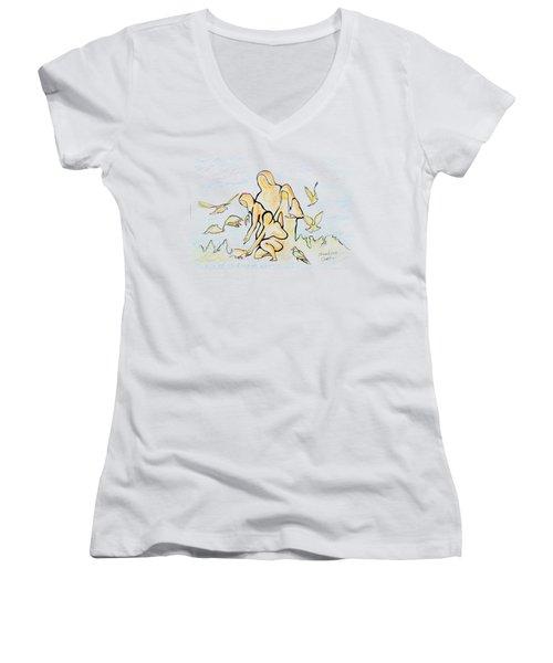 Family. 17 Murch, 2014 Women's V-Neck T-Shirt