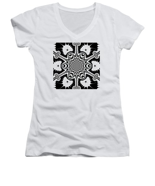 Famoirkine Women's V-Neck