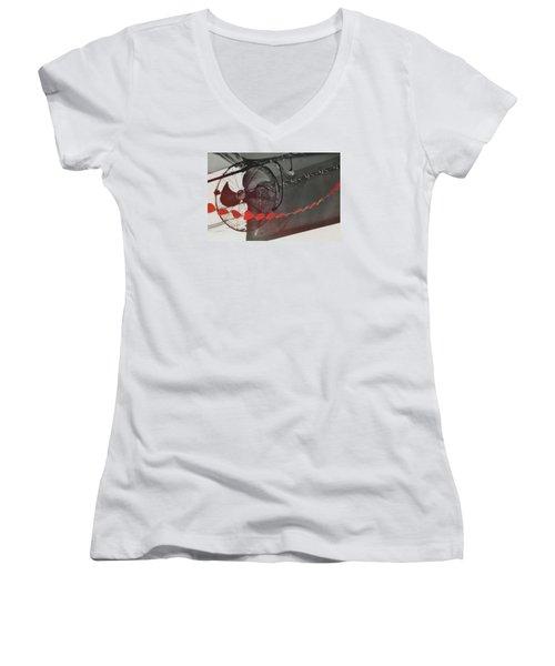 Fan Love Women's V-Neck T-Shirt (Junior Cut) by JAMART Photography