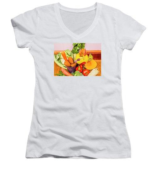 Farm Fresh Produce Women's V-Neck (Athletic Fit)
